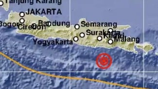 Gempa Bumi 5,3 SR di Blitar, Jawa Timur.