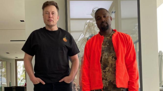 Kanye West dan Elon Musk