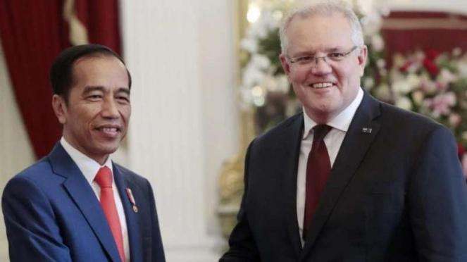 VIVA Militer: Presiden Indonesia, Joko Widodo, dan PM Australia, Scott Morrisona
