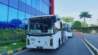 Bus listrik BYD C6 untuk armada Transjak