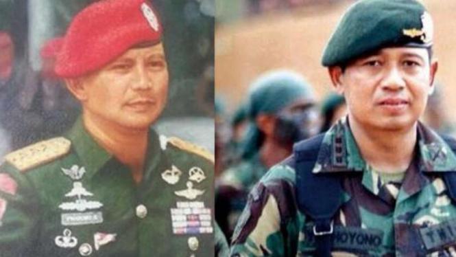 VIVA Militer: Letjen Prabowo dan Letjen SBY.