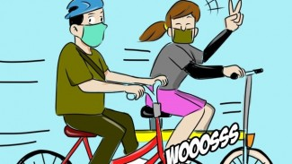 Ilustrasi bersepeda