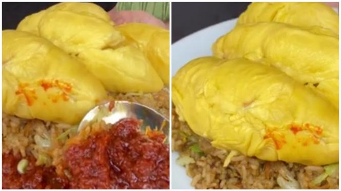 Nasi goreng durian sambal balacan