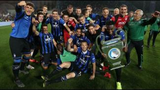 Atalanta saat memastikan lolos ke Liga Champions musim lalu