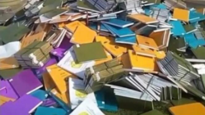 Ratusan skripsi dibuang di Universitas Lancang Kuning, Pekanbaru