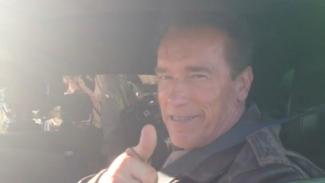 Arnold Schwarzenegger dalam film The Last Stand.