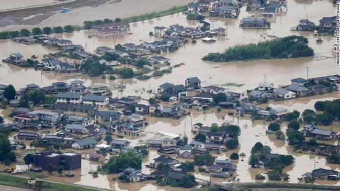 Banjir di Jepang.