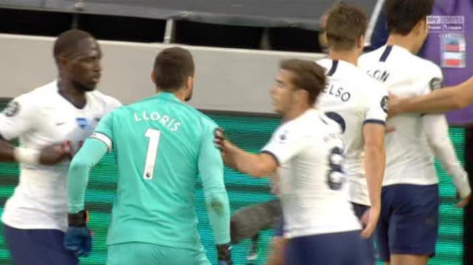 Kiper Tottenham Hotspur, Hugo Lloris, maki Son Heung-min