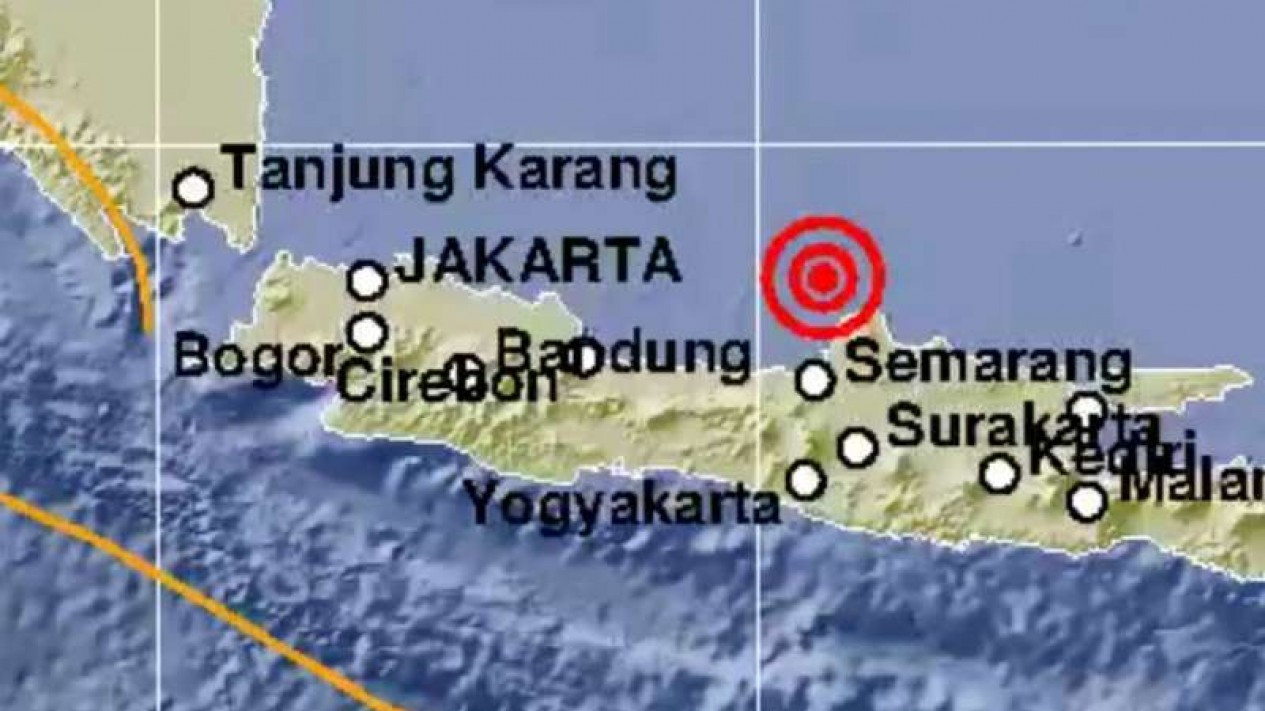 Gempa magnitudo 6,1 guncang Jepara, Jateng.