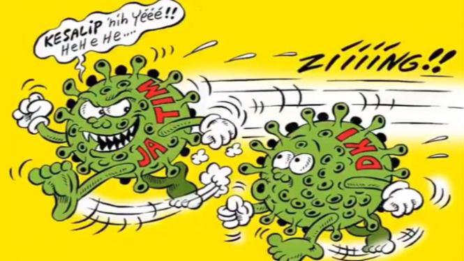 Ilustrasi komik corona (Twitter/@BennyMice)