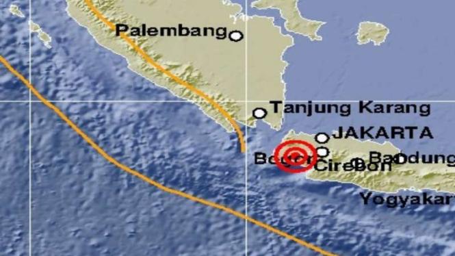 Gempa di Rangkasbitung Banten