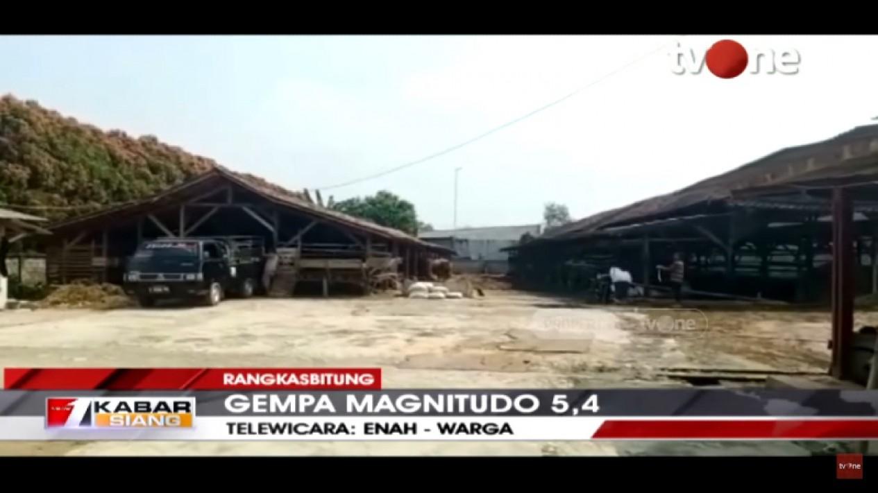 Kabar Siang tvOne tayangkan suasana pasca gempa Rangkasbitung, Banten