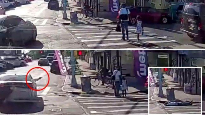 Penembakan di jalan raya New York mengincar korban saat mengandeng putrinya