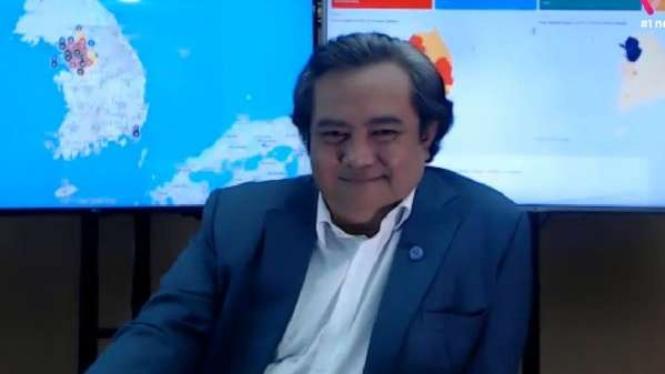 """Duta Besar Indonesia untuk Korea Selatan Umar Hadi dalam VIVATalk bertema """"Hidup di tengah Pandemi COVID-19: Belajar dari Pengalaman Korsel"""" Selasa 7 Juli 2020."""