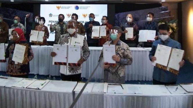 BRI Agro bersama Jamkrindo dan Askrindo Sukseskan Program Pemulihan Ekonomi Nasional.