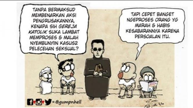 Komik sindir pastor (Facebook/GumpnHell)