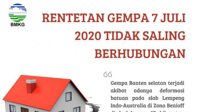 BMKG jelaskan rentetan gempa pada 7 Juli 2020 tidak saling berhubungan