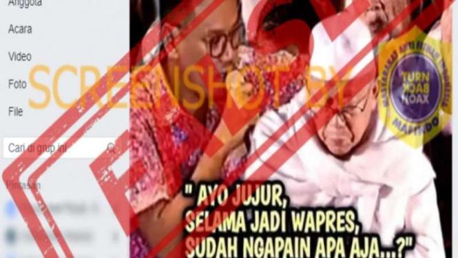 Hoax foto Uya Kuya hipnotis Wapres Ma'ruf Amin