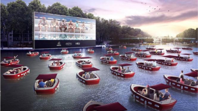Bioskop terapung Le cinema sur l'eau