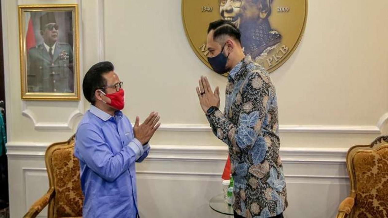 Ketum Demokrat AHY bertemu Ketum PKB Muhaiman Iskandar