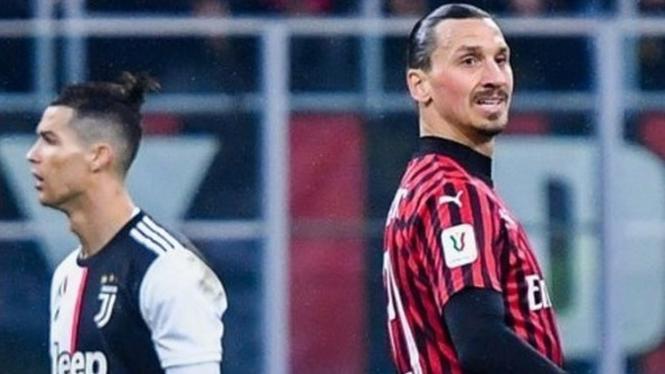 Ico kedua klub, Ibrahimovic di AC Milan dan Cristiano Ronaldo di Juventus