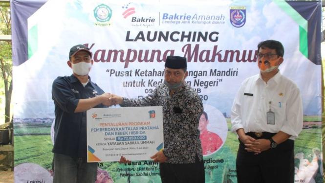 Peluncuran Kampung Makmur Bakrie Amanah.