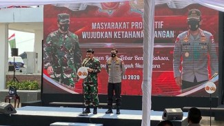 Panglima TNI dan Kapolri meresmikan kampung tangguh nusantara