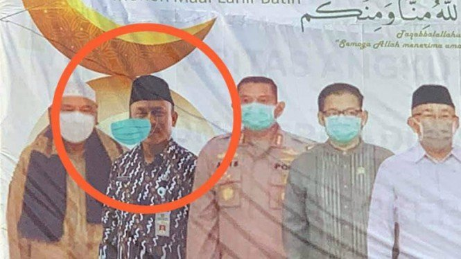 Viral spanduk tak pakai masker pejabat Pemerintahan Depok