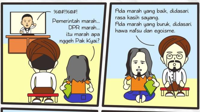 Komik Pak Kyai sentil marah Jokowi (Twitter/KomikPakKyai)