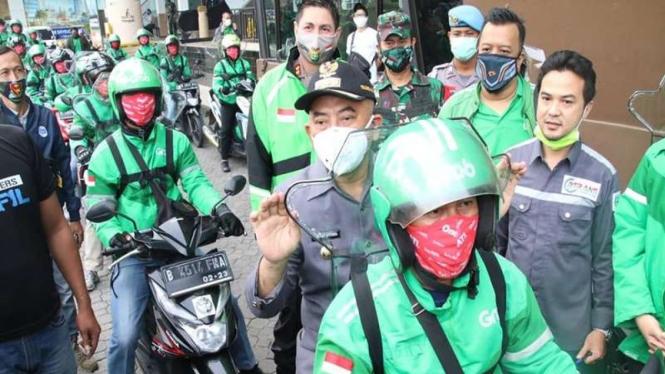 Wali Kota Bekasi Rahmat Effendi meresmikan ojol kembali angkut penumpang