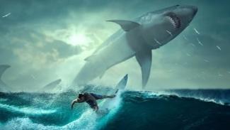 Ilustrasi mimpi ikan besar.