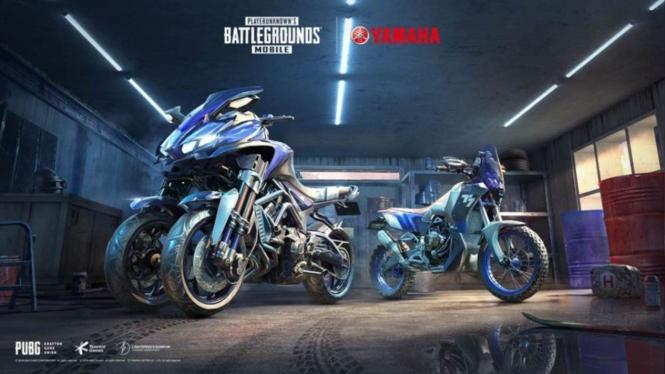 Dua motor Yamaha di permainan PUBG Mobile