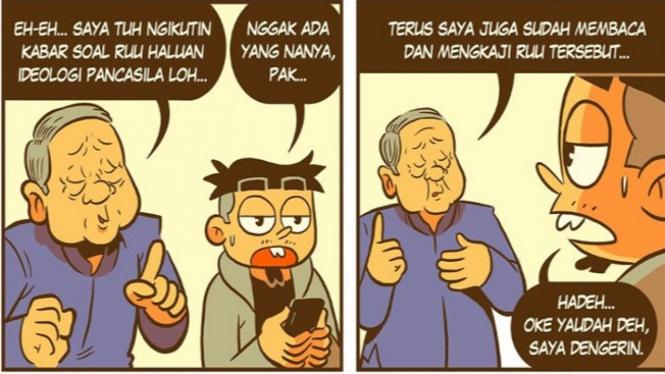 Komik SBY soal Pancasila (Facebook/KostumKomik)