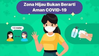 Zona hijau bukan berarti aman dari risiko COVID-19
