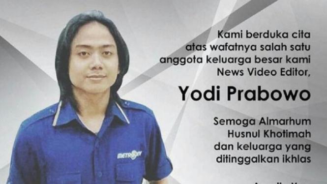 Editor Metro TV Yodi Prabowo