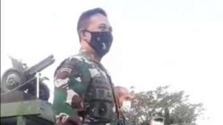 Kepala Staf TNI Angkatan Darat Jenderal Andika Perkasa saat mengunjungi Secapa TNI AD, Sabtu 11 Juli 2020.