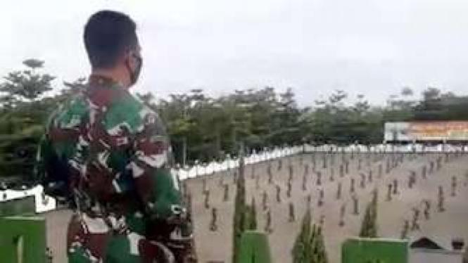 KSAD Jenderal TNI Andika Perkasa di Secapa AD di Bandung Sabtu (11/7/2020)