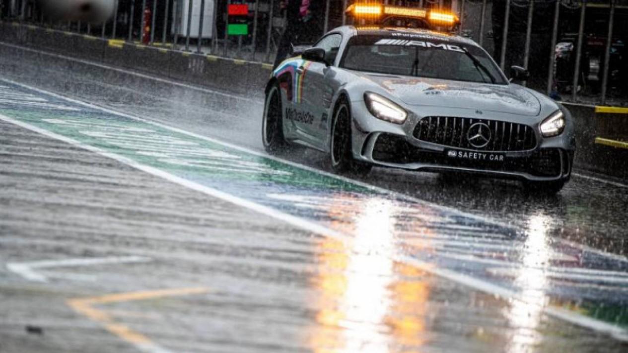 Hujan lebat di Sirkuit Red Bull Ring