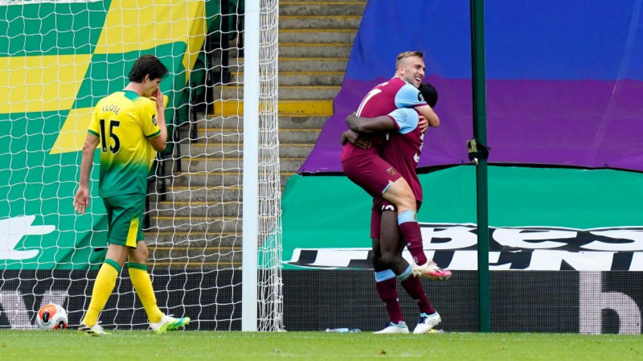 Aksi bintang West Ham, Michail Antonio, bikin Norwich City terdegradasi