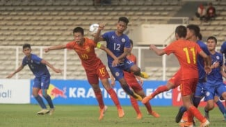 Timnas China U-16 saat tampil di kualifikasi Piala Asia U-16