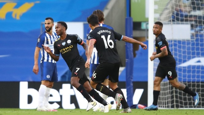 Pertandingan Brighton & Hove Albion vs Manchester City