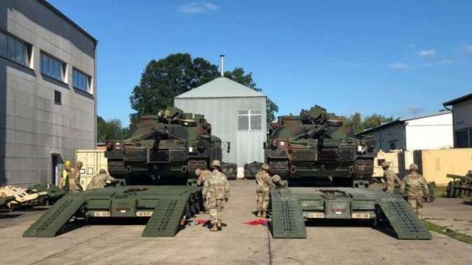 VIVA Militer: Tank M1 Abrams milik Angkatan Bersenjata Amerika Serikat