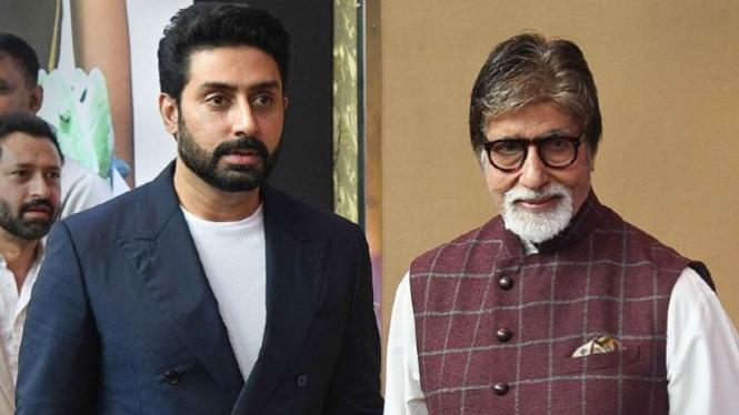 Abhishek Bachchan dan Amitabh Bachchan.