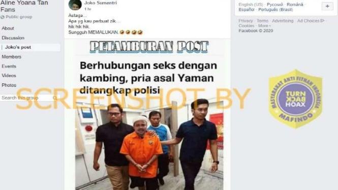 Hoax pria berwajah Habib Rizieq ditangkap polisi