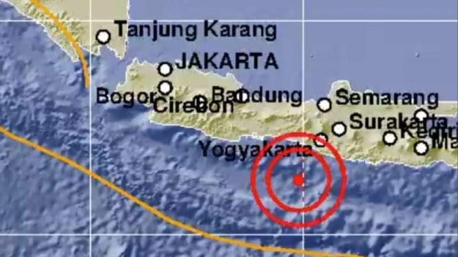 Gempa Bumi 5,2 SR Guncang Bantul Yogyakarta.