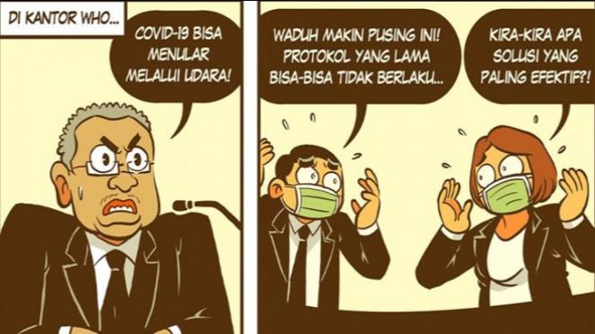 Komik kalung anti corona (Facebook/KOSTUMKOMIK)