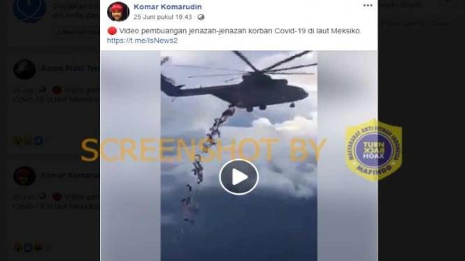 Hoax helikopter buang puluhan jenazah corona di laut Meksiko