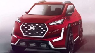 Rendering mobil baru Nissan Magnite
