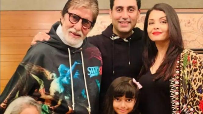 Amitabh Bachchan dan keluarga.