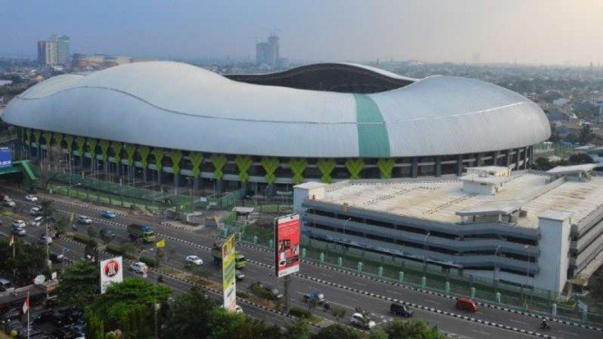 Stadion Patriot Chandrabaga, Bekasi, Jawa Barat.